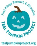 The Teal Pumpkin Project for kids with food allergies, non-candy alternatives for Halloween and Fall Festivals