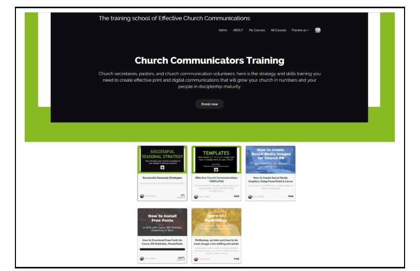 Church Communications Training School