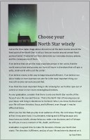 A challenge for Graduates—choose your North Star wisely