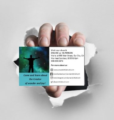 Church Business Cards Effective Church Communications