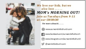 Mom's Morning Out Business Card