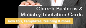 LINK to articles, videos, FREE templates of church business cards