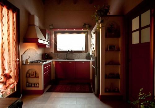 Cucina in Bambù Rosa