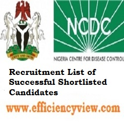 Photo of NCDC Recruitment List of Successful Shortlisted Candidates 2020 across 36 States in Nigeria check here