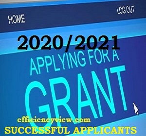 Federal Government Grant List of Successful Beneficiaries Candidates 2020-2021