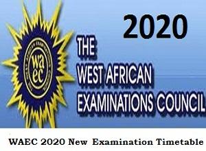 Photo of WAEC 2020 New Examination Timetable pdf: WASSCE starts August 17 2020
