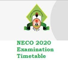Photo of NECO 2020 Examination Timetable pdf: Neco exams/practical starts October 5 2020 and end November 18