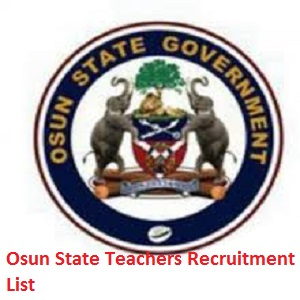 2020/2021 Osun State Teachers Recruitment List of Shortlisted Candidates