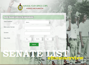 Photo of NYSC Verify Senate List Link Portal – search your name here