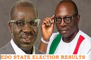 Photo of Official Results of Edo Governorship Election 2020 as Obaseki emerged winner of Edo Poll