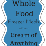 Freezer Meals without Cream of Anything