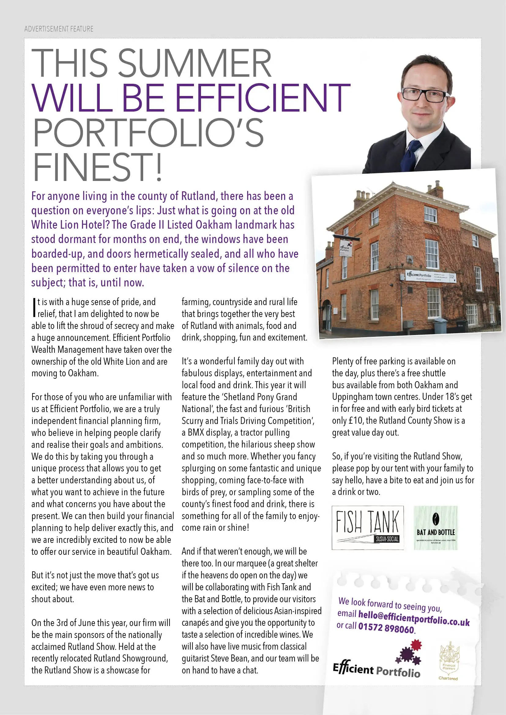 Rutland Living Efficient Portfolio Article June