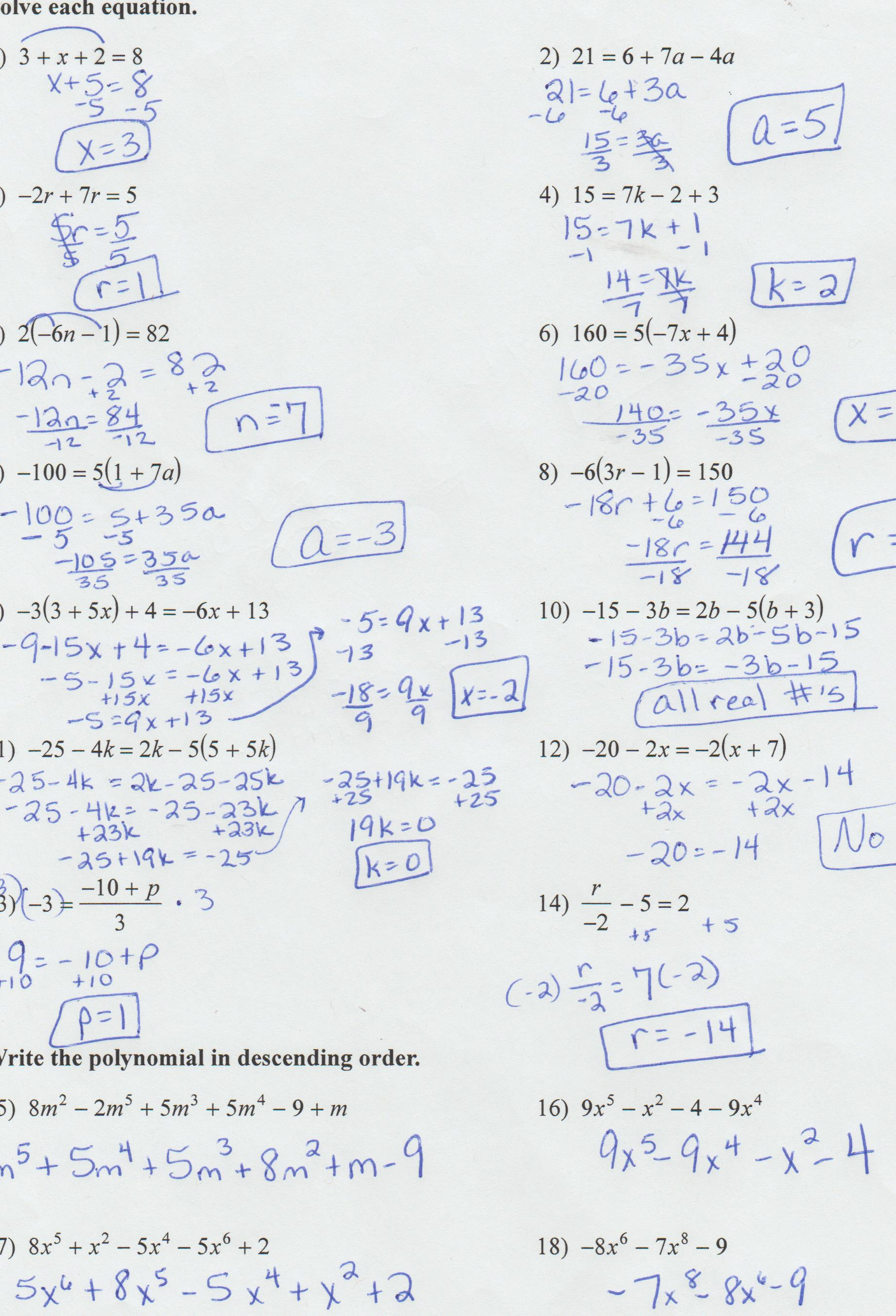 9 6 Notes Writing Linear Equations In Slope Intercept Form Answer Key