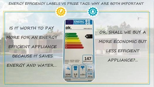 Efficiency label Vs Prize tag