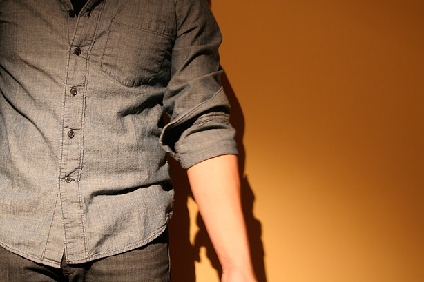 Stop when the seam where the cuff/sleeve meet lines up with the fold of your elbow.
