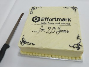 Effortmark's 20th birthday cake