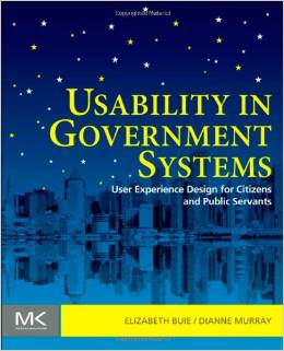 "Book cover: ""Usability in Government Systems"""