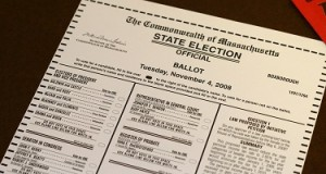 Paper ballot from the 2008 US election
