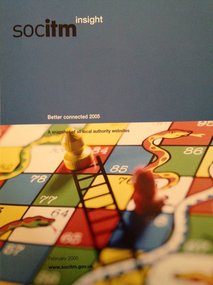 front cover of SOCITM's Better Connected 2005 report