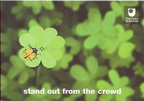OU advert for the marketing campaign - stand out from the crowd