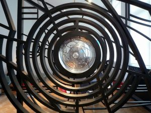 sculpture of concentric circles