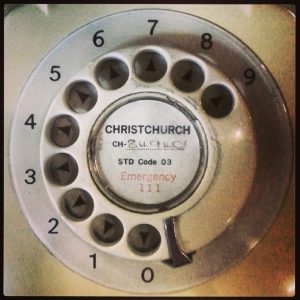 vintage phone with old UK area code on the dial