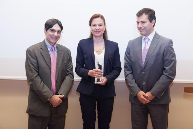 Το βραβείο παρέλαβε η Ελένη Πολυχρονοπούλου, Πρόεδρος της HEMEXPO.