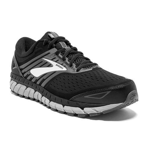 Brooks Beast '18 Men's Running Wide 4E Black Grey Silver 1102824E004