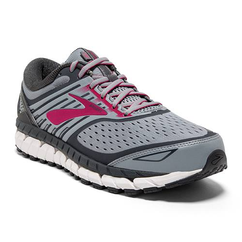 Brooks Ariel '18 Women's Running Wide D Grey Grey Pink 1202711D091