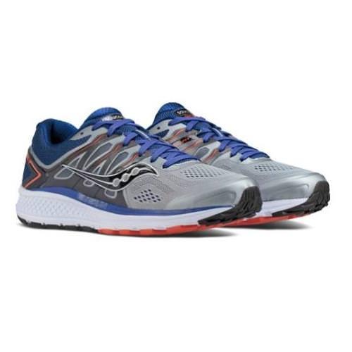 Saucony Omni 16 Men's Running Shoe Wide EE Grey Navy Orange S20371-1