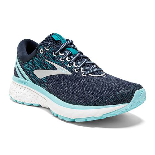 Brooks Ghost 11 Women's Running Wide D Navy Grey Blue 1202771D493