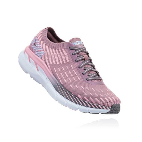 Hoka One One Clifton 5 Knit Women's Cameo Pink Toadstool 1094310 CPTT