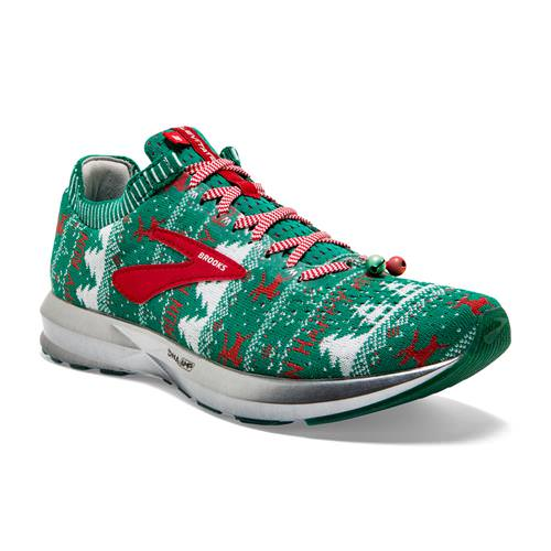 Brooks Levitate 2 Men's Ugly Christmas Sweater Running Green White Red 1102901D322