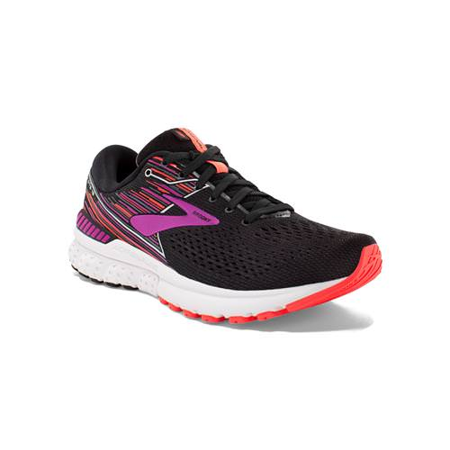 Brooks Adrenaline GTS 19 Women's Running Wide D Black Purple Coral 1202841D080