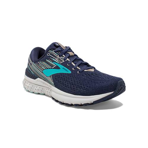 Brooks Adrenaline GTS 19 Women's Running Navy Aqua Tan 1202841B450