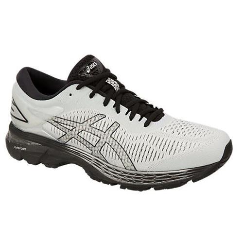 Asics Gel Kayano 25 Men's Running Shoe Wide 2E Glacier Grey Black 1011A029-021
