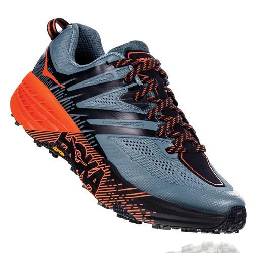 Hoka One One Speedgoat 3 Men's Trail Stormy Weather Tangrine Tango 1099733 SWTT