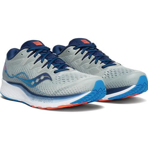 Saucony Ride ISO 2 Men's Wide EE Running Grey Blue S20515-1
