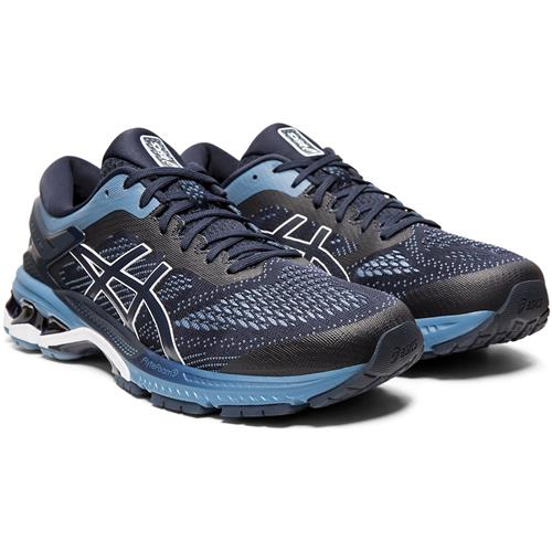 Asics Gel Kayano 26 Men's Wide EE Running Shoe Midnight Grey Floss 1011A542 400