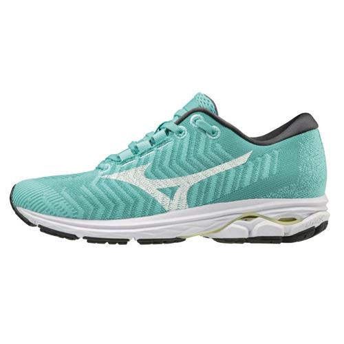 Mizuno Wave Rider 23 WAVEKNIT Women's Running Blue Turquoise-White 411122.BT00