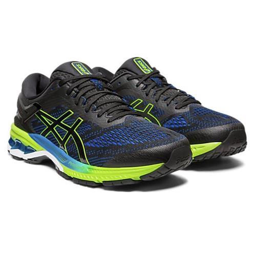 Asics Gel Kayano 26 Men's Running Shoe Black Electric Blue 1011A541 003