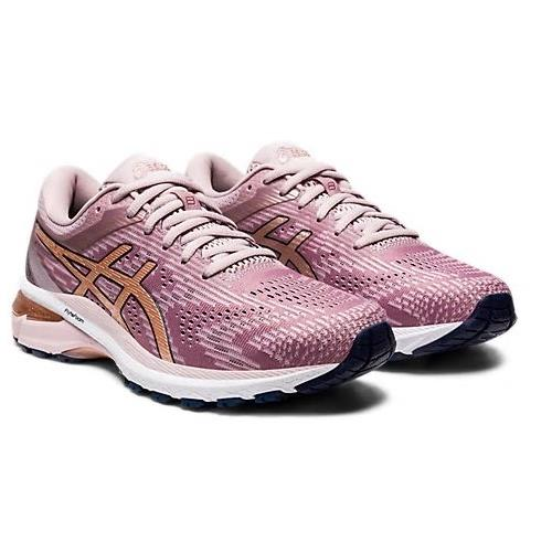 Asics GT-2000 8 Women's Running Wide D Shoe Watershed Rose Rose Gold 1012A592 701