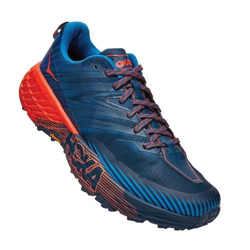 Hoka One One Speedgoat 4 Men's Trail Majolica Blue Mandarin Red 1106525 MBMR