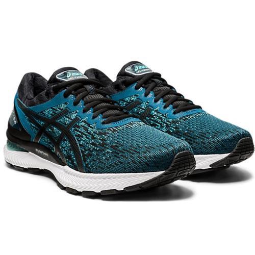 Asics Gel Nimbus 22 Knit Men's Running Magnetic Blue Black 1011A794 400