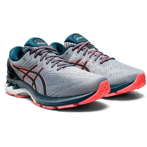 Asics Gel Kayano 27 Men's Wide 4E Running Shoe Sheet Rock Magnetic Blue 1011A833 021