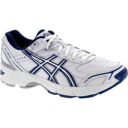 Asics Gel 180 TR Men's Cross Training Shoe Wide 4E White Navy Silver S305L 0150