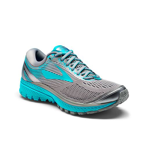 Brooks Ghost 10 Women's Running Wide D Primer Grey Teal Victory Silver 1202461D038