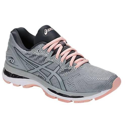 Asics Gel Nimbus 20 Women's Running Shoe Mid Grey Mid Grey Seashell Pink T850N 9696