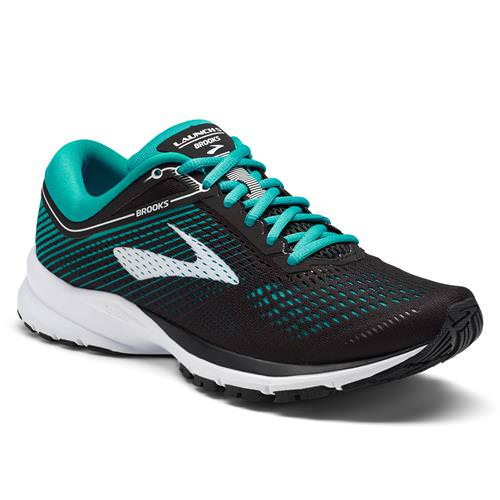 Brooks Launch 5 Women's Running Black Teal Green White 1202661B003