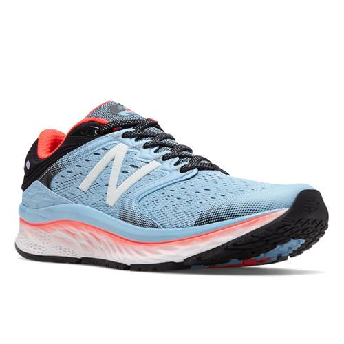 New Balance Fresh Foam 1080v8 Women's Running Shoe Clear Sky Vivid Coral Black W1080CS8